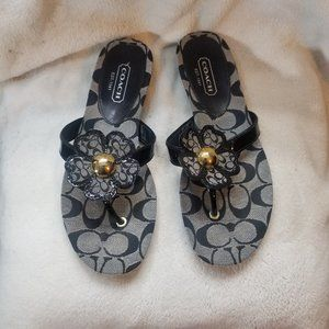 Coach Shoes - Coach Sherrie Soft Patent Black Sandal 8.5M